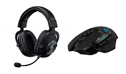 Logitech G PRO X (2. Generation) Gaming-Headset + Kabellose Gaming-Maus (mit Hero-Sensor, 16'000 DPI, geringes Gewicht, PC-Gaming, 4 programmierbare Tasten, lange Akkulaufzeit, Windows und Mac)