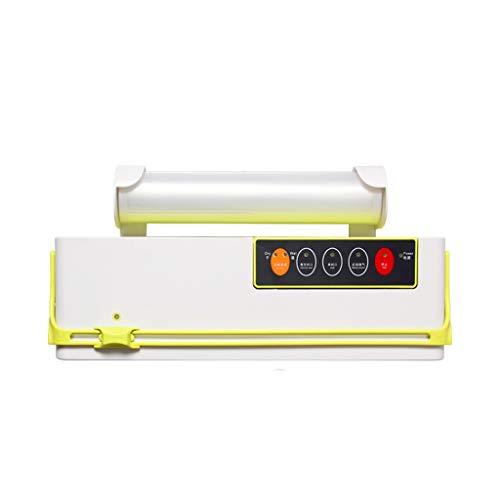 Envasadora al Vacío Máquina de envasado al vacío Mini Selladora automática de vacío de Alimentos Propio Cuchilla de Corte Ranura Empaquetadora de vacío Que Incluye 10 Piezas Bolsas Selladora al Vacio