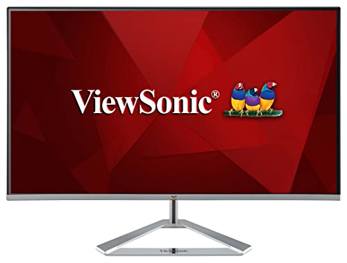 Viewsonic VX2476-SMH 60,5 cm (24 Zoll) Design Monitor (Full-HD, IPS-Panel, HDMI, Eye-Care, Eco-Mode, Lautsprecher, 3 Jahre Austauschservice) Silber-Schwarz