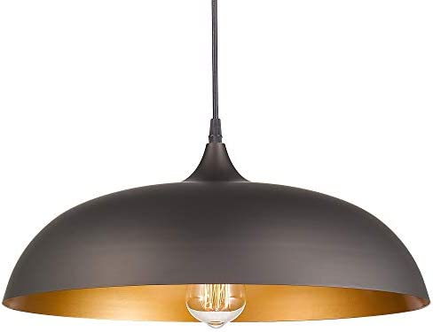 Emliviar Industrial Pendant Lighting 17 Vintage Farmhouse Metal Hanging Light Fixture Oil Rubbed product image
