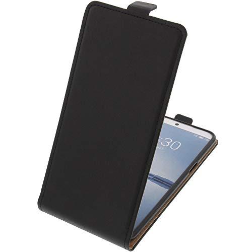 foto-kontor Tasche für Meizu 15 Plus Smartphone Flipstyle Schutz Hülle schwarz
