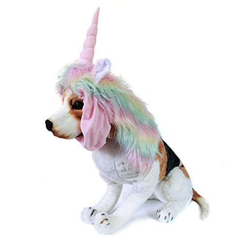 Funny Pet Reindeer Moose Costumes for Dog, Cute Furry Pet Wig for...