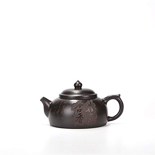 LPLHJD Teekanne Hand Erz Teekanne berühmtes grünes Tongefäß mit einem Gehalt Parfüm New Teekanne Tees (Color : Purple mud)
