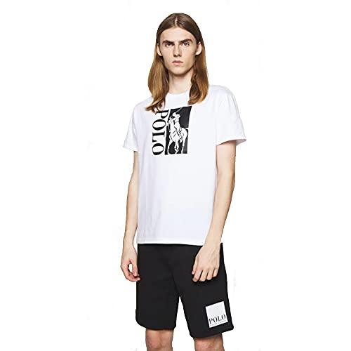 Polo Ralph Lauren Camiseta Cotton Stretch con Polo Big Pony (L, White)