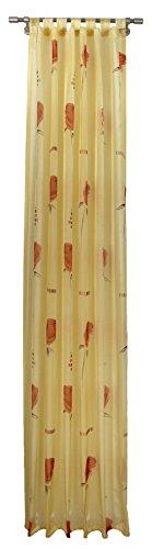 Pierre Cardin 6865X250X368 Vorhang, Schlaufenschal, 245 x 140 cm, Farbe: orange / gelb/cotta