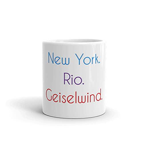Geiselwind Becher | Tasse mit lustigem Spruch: New York. Rio. Geiselwind.