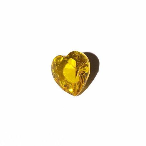 Corazón - piedra de 5 mm para estar encanto flotante de la memoria y estilo Origami buho de las virutas