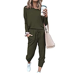 Women's Casual 2 Piece Outfit Long Pant Set Sweatsuits Tracksuits
