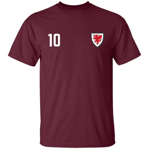 Maglia da calcio del Galles 2020 2021 Euros Welsh Football Team T-Shirt...
