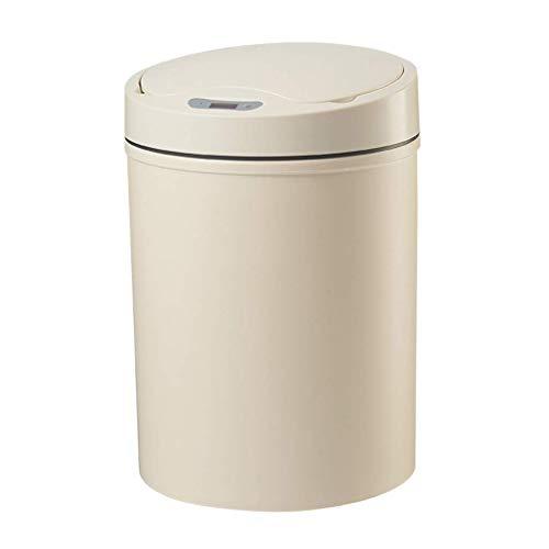Küchenbehälter mit Sensordeckel Smart Sensor Mülleimer, kreativer einfacher Haushalt mit Deckel Toilettenmülleimer, Küche Wohnzimmer wasserdichter runder Mülleimer, Grau