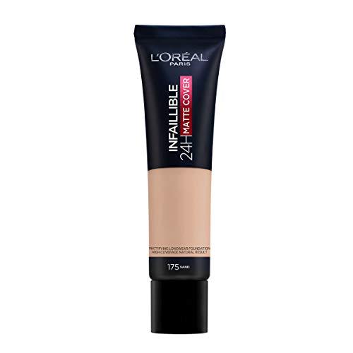 L'Oréal Paris MakeUp Infaillible 24H Mat Cover, Fondotinta Coprente, Finish Matte, Formula a Lunga...