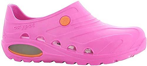Oxypas Safety Jogger Berufsschuhe Oxyva Unisex-Erwachsene Arbeitsschuhe, Clogs Pink (Fux), EU 35/36