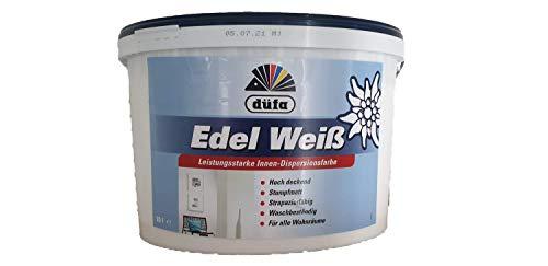 Düfa Edel Weiß Wandfarbe Dispersinosfarbe Weiß stumpfmatt 10 Liter