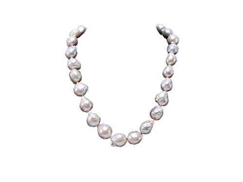 JYX Pearl Collar de Perlas Barrocas Blancas 47cm