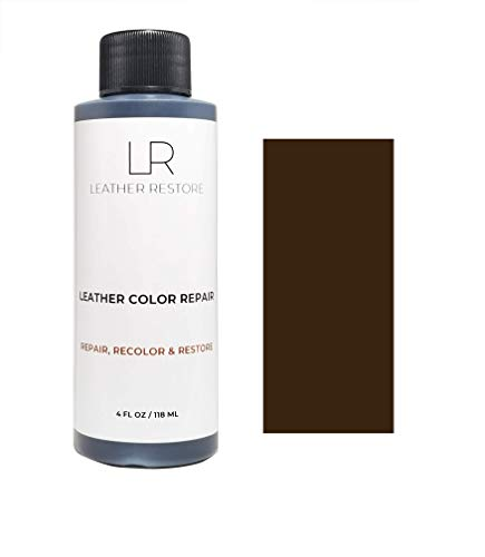 Leather Restore Leather Color Repair, Espresso Very Dark Brown 4 OZ - Repair, Recolor and Restore Couch, Furniture, Auto Interior, Car Seats, Vinyl and Shoes