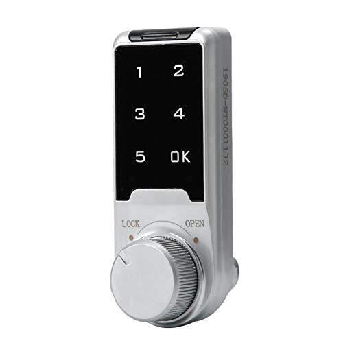 Cerradura para gabinete, cerradura electrónica, ampliamente utilizada, alta dureza, cerradura de contraseña duradera negra, para agentes, escuelas, piscinas, supermercados(L=20mm)