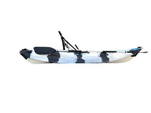 Cambridge Kayaks ES, Manta Blanco Y Negro Solo Kayak DE Pesca Asiento Alto