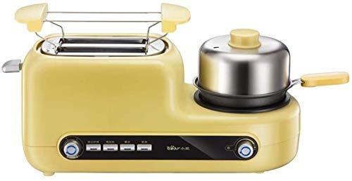 DYB Eléctrico Mini Horno Compacto Cocina Acero Inoxidable Tostadora eléctrica Máquina de Desayuno portátil Máquina para Hornear Pan automática Huevos fritos Caldera Sartén