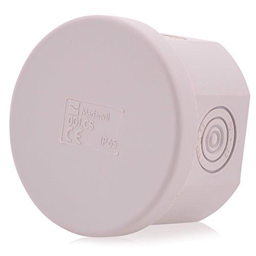 Aufputz Abzweigdosen Kabelabzweigkasten 6 Membraneingänge | IP65 | 65x40mm | Verteilerdose Abzweigdose Aufputz Wasserdicht Aussen Installationsgehäuse Box Verbindungsdose