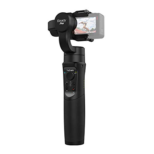 Hohem iSteady Pro3-Axis Gimbal Stabilizer for Gopro Gimbal stabilizer GoPro Hero 6/5/4/3,DJI OSMO Action, Sony RX0 / SJCAM/YI Cam with Function of Motion Time Lapse