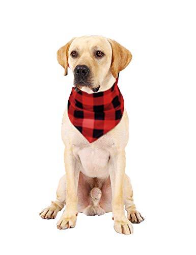 Pañuelo para Perros, Multicolor (Rojo/Negro), L