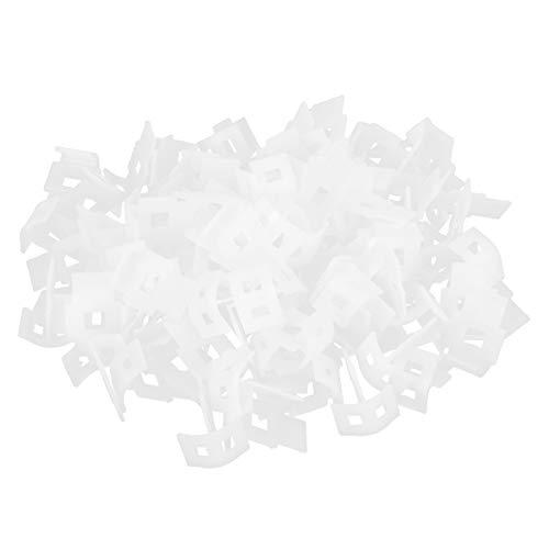 URRNDD Herramienta de nivelación de baldosas 100 Piezas para nivelador Auxiliar de pavimentación de baldosas con Base Curva Adecuada para Herramientas baldosas Gruesas de 7~12 mm / 0,28~0,47 Pulgadas