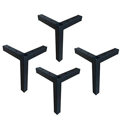 YXB Meubelvoeten Europese voet bank - voet salontafel poten ondersteuning kast voeten meubels TV verdikking smeedijzer zwarte hardware ondersteuning voeten 16,5 cm, geschikt voor banken, tv's, cabine