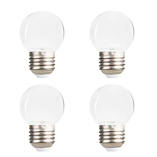 YOSION - Set di 4 lampadine a LED da 24 V E27, in acrilico bianco caldo, infrangibili, lampadine di ricambio per patio esterno