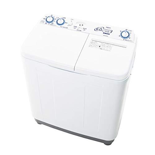 AQW-N60-W(ホワイト) 2槽式洗濯機 洗濯6kg/脱水6kg