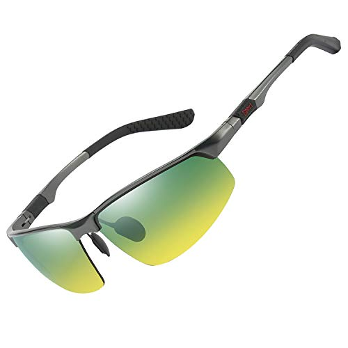 FEIDU - Gafas de conducción nocturnas HD polarizadas antideslumbramiento gafas de visión para conducir hombres mujeres gafas de seguridad para la noche (3-AMARILLOW)