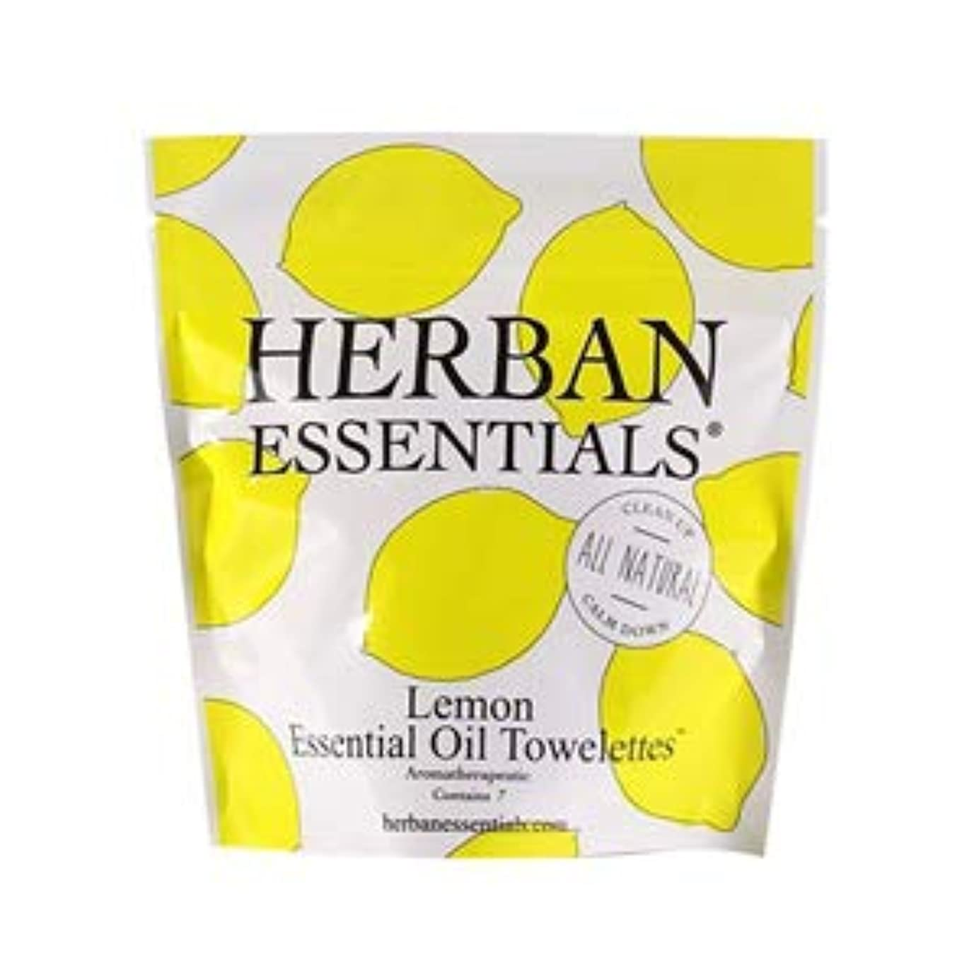 共和国寂しい綺麗なハーバンエッセンシャルズ HERBAN ESSENTIALS アロマタオル ミニ レモン 7包