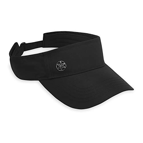 Gaiam Women's Visor Hat - Classic Outdoor Ball Cap, Dry Fit Sweat Headband, Pre-Shaped Bill, Adjustable Size for Running, Baseball, Sun, Hiking, Yoga, Golf, Tennis, Sports & Fitness - Black