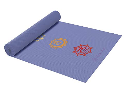 Gaiam Yoga Mat Classic Print Non Slip Exercise & Fitness Mat for All Types of Yoga, Pilates & Floor Workouts, Chakra, 4mm
