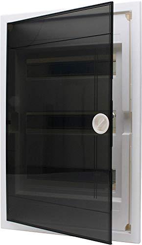Kopp rasante–Caja de distribución con Puerta de plástico de 3Filas, para 36Pole, 1Pieza, Gris/Negro, 346003013