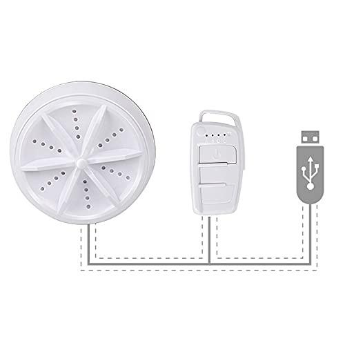 RUMUI Mini Lavadora de turbina ultrasónica portátil con Herramientas de lavandería USB para Viajes, Acampar, Habitaciones universitarias