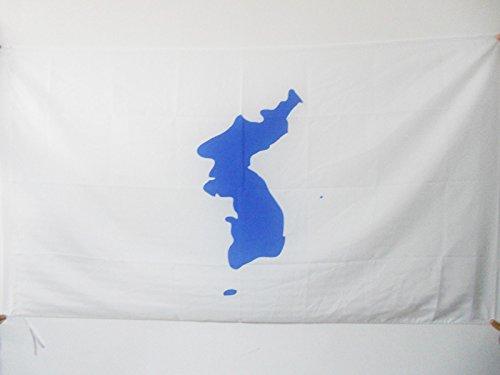 AZ FLAG Flagge KOREANISCHE WIEDERVEREINIGUNG 150x90cm - Nord- UND SÜDKOREA Fahne 90 x 150 cm Scheide für Mast - flaggen Top Qualität
