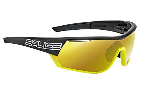 Salice 016rw–Gafas de Sol Unisex, Color Negro/Amarillo