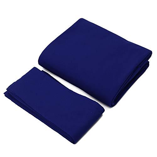 Zacha Billard Pool Tisch Cloth Professional Snooker 6 Stück langlebige Bänder 7 8 9ft matt Bar Filz Zubehör Spiel Sport Spiel Decke Hotel Club Innen (8 Füße) Blau