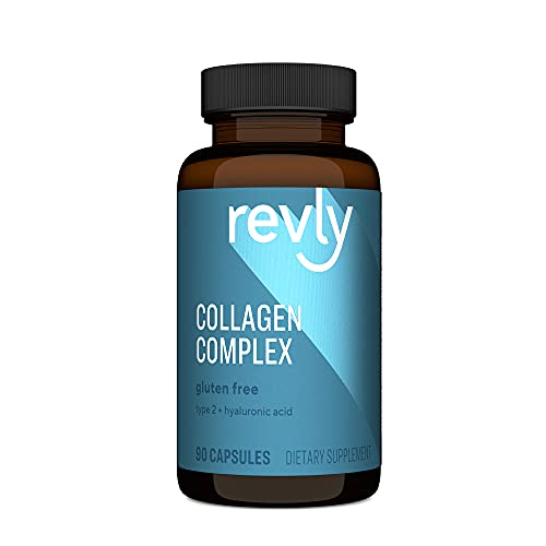 Amazon Brand - Revly Collagen Complex with Hyaluronic Acid, 90 Capsules, 3 Month Supply, Satisfaction Guaranteed