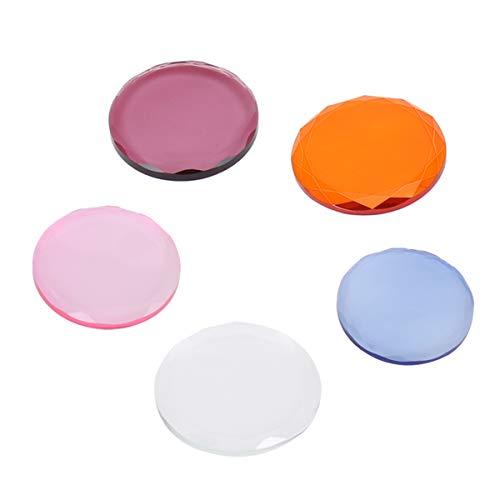 Lurrose Extension de cils Colle Cristal Verre Cils Adhésif Palette Faux Cils Eye Base 5 Pcs