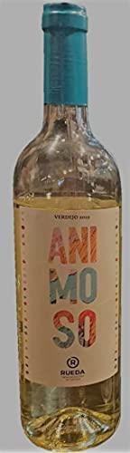 Animoso - vino blanco verdejo Denominación de Origen Rueda - caja 6 botellas de 75 cl - total 4500 ml