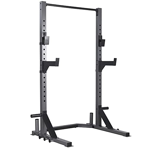 MENCIRO Power Rack, Deluxe Squat Rack with Pull Up Bar, J-Hooks and...