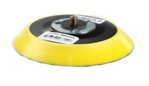 Sungold Abrasives 20-70522 5-Inch x No Hole PSA Back-Up Pad for Glass, Stone or Marble Type G Medium Profile M-8 Metric Thread