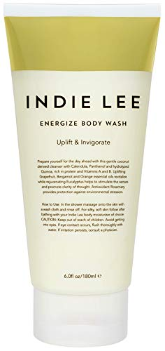 Indie Lee Energize Body Wash - Coconut Bath + Shower Wash with Essential Oils to Help Nourish + Moisturize Skin - For All Skin Types (6oz / 180ml)