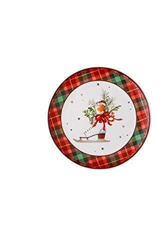 Hutschenreuther 02479-726006-10860 Assiette plate Rouge Vert