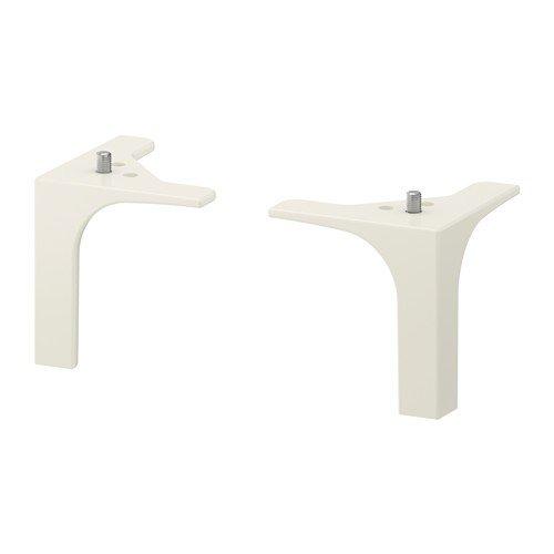 Ikea NANNARP Möbelbeine in weiß; 2 Stück