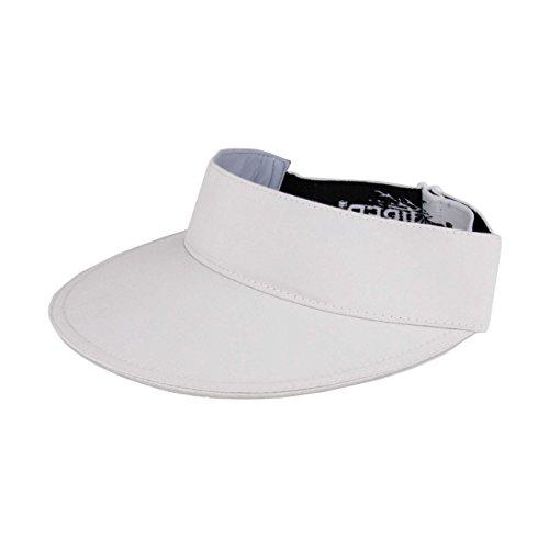 Juniper Sun Hats Microfiber Visor with Jacquard Elastic Band, White, One Size
