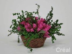 Unbekannt Creal 75990 Panier de Fleurs Rose 1:12 pour Maison de Poupée