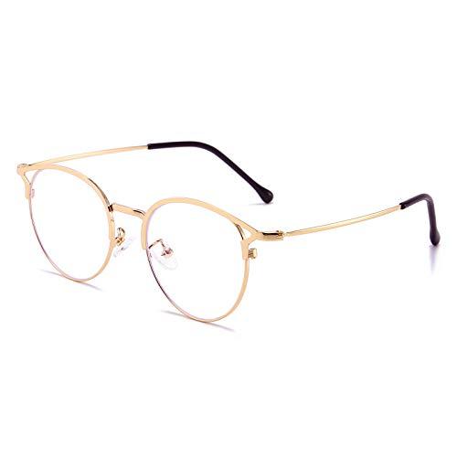 Blaulichtfilter Brille Anti Blaulicht Brille Katzenauge Computerbrille Ohne Sehstärke Metallgestell Brille Blockieren Blaulicht Pc Gaming Brille Damen Damen Gold
