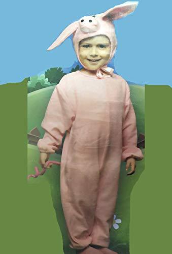 LEMON TREE SL Disfraz de 2 Piezas Cerdito para Carnaval Infantil .Talla 5/6 años niña, niño.Incluye 1 Mono y 1 Gorro Cosplay niña niño Carnaval.
